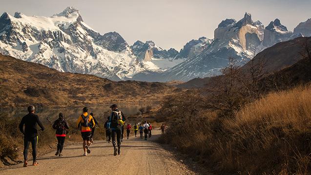 Patagonian International Marathon; Parque Nacional Torres del Paine, Patagonia, Chile; Marathon Road Running