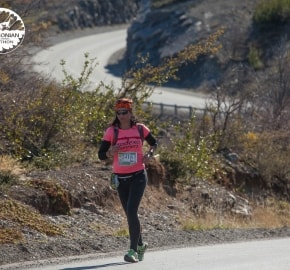 Running in Patagonia for the fifth edition of the Patagonian International Marathon 2016 in Provincia de Última Esperanza, Patagonia Chile