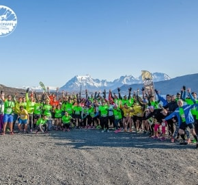 Running in Patagonia for the fifth edition of the Patagonian International Marathon 2016 in Provincia de Última Esperanza, Patagonia Chile Starting Line 10K Mirador Cuernos