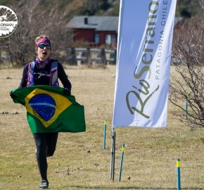 Running in Patagonia for the fifth edition of the Patagonian International Marathon 2016 in Provincia de Última Esperanza, Patagonia Chile Finish Line Hotel Río Serrano