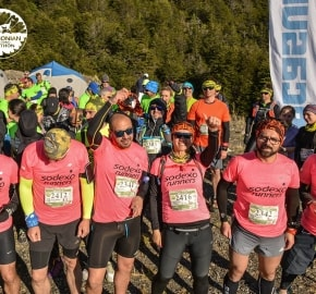 Running in Patagonia for the fifth edition of the Patagonian International Marathon 2016 in Provincia de Última Esperanza, Patagonia Chile Starting Line 21K Botadero