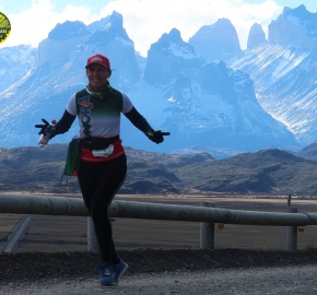Running in Patagonia for the seventh edition of the Patagonian International Marathon 2018 in Provincia de Última Esperanza, Patagonia Chile; International Marathon; Séptima Edición Maratón de la Patagonia, Chile 2018