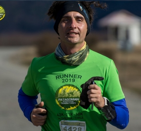 pim1909artr0547; Running in Patagonia for the eighth edition of the Patagonian International Marathon 2019 in Provincia de Última Esperanza, Patagonia Chile; International Marathon; Octava Edición Maratón de la Patagonia, Chile 2019;