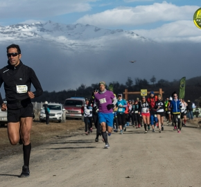 pim1909gusa3001e; Running in Patagonia for the eighth edition of the Patagonian International Marathon 2019 in Provincia de Última Esperanza, Patagonia Chile; International Marathon; Octava Edición Maratón de la Patagonia, Chile 2019;