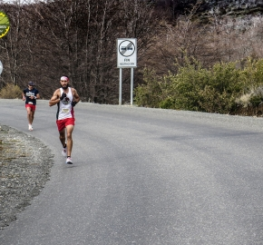 pim1909javi0194; Running in Patagonia for the eighth edition of the Patagonian International Marathon 2019 in Provincia de Última Esperanza, Patagonia Chile; International Marathon; Octava Edición Maratón de la Patagonia, Chile 2019;