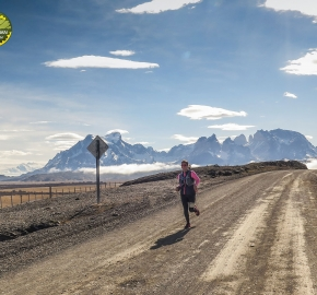 pim1909javi0253; Running in Patagonia for the eighth edition of the Patagonian International Marathon 2019 in Provincia de Última Esperanza, Patagonia Chile; International Marathon; Octava Edición Maratón de la Patagonia, Chile 2019;