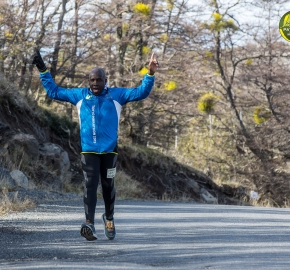 pim1909lues81100e; Running in Patagonia for the eighth edition of the Patagonian International Marathon 2019 in Provincia de Última Esperanza, Patagonia Chile; International Marathon; Octava Edición Maratón de la Patagonia, Chile 2019;